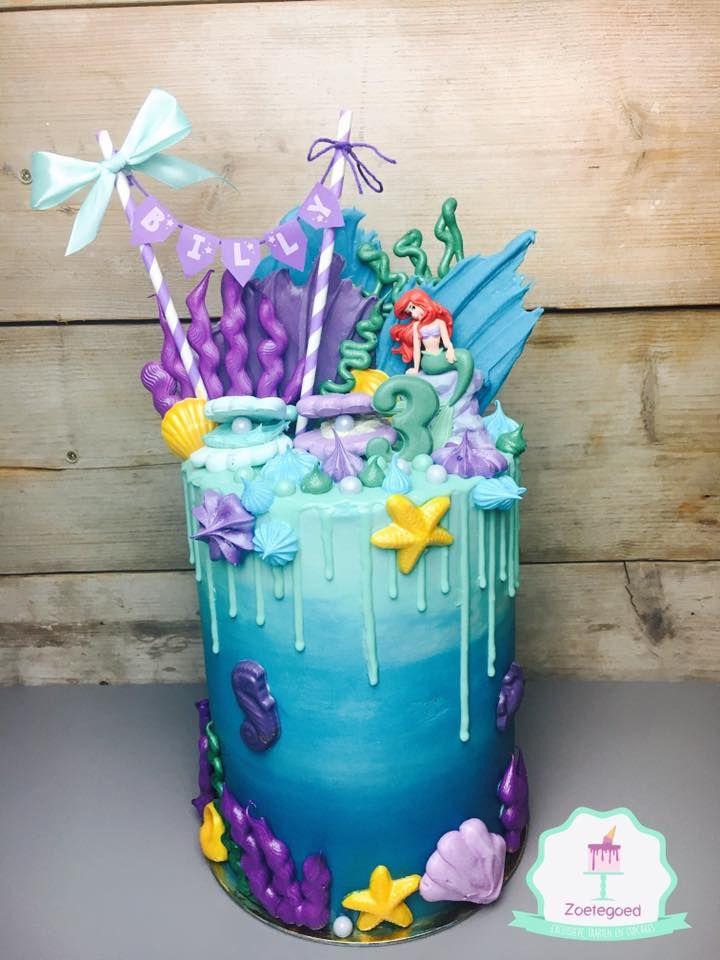 The Little Mermaid Disney Dripcake Mermaid Birthday For
