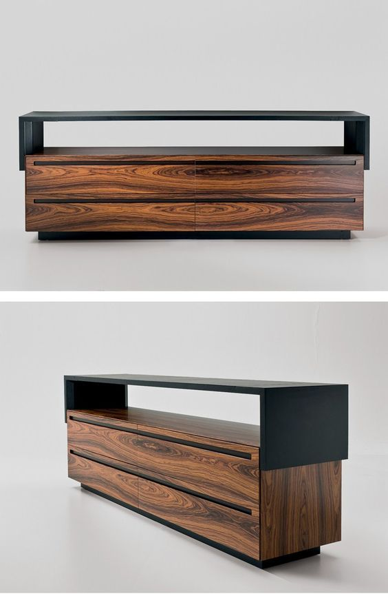 Tanned leather sideboard with drawers by i 4 mariani for Mobili design scontati