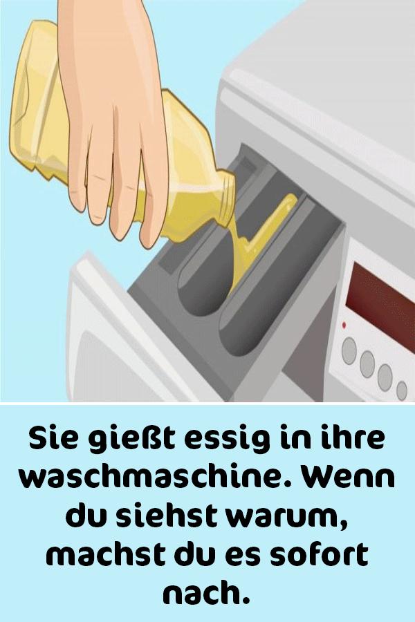 Sie Giesst Essig In Ihre Waschmaschine Wenn Du Siehst Warum