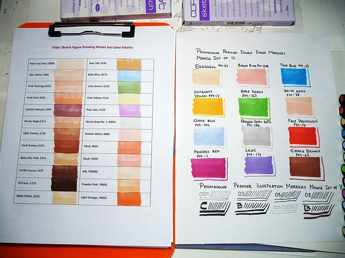 Copic Prismacolor Markers Color Charts B Chart Copic And Markers