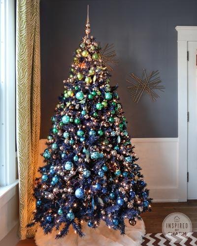 Navy Blue Christmas Tree Green Christmas Tree Decorations Blue