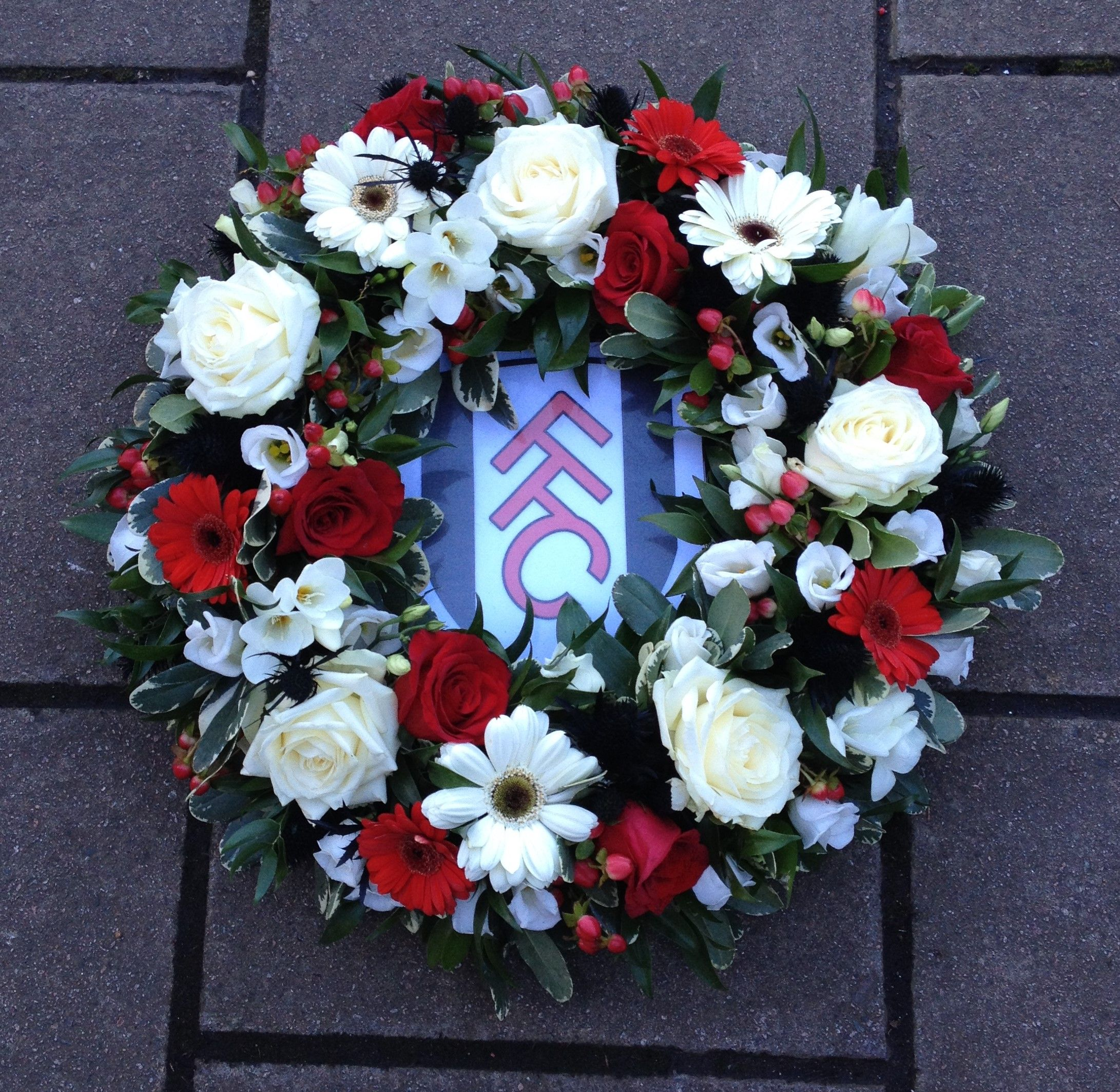 Fulham football club wreath a bespoke floral funeral tribute fulham football club wreath a bespoke floral funeral tribute izmirmasajfo Images