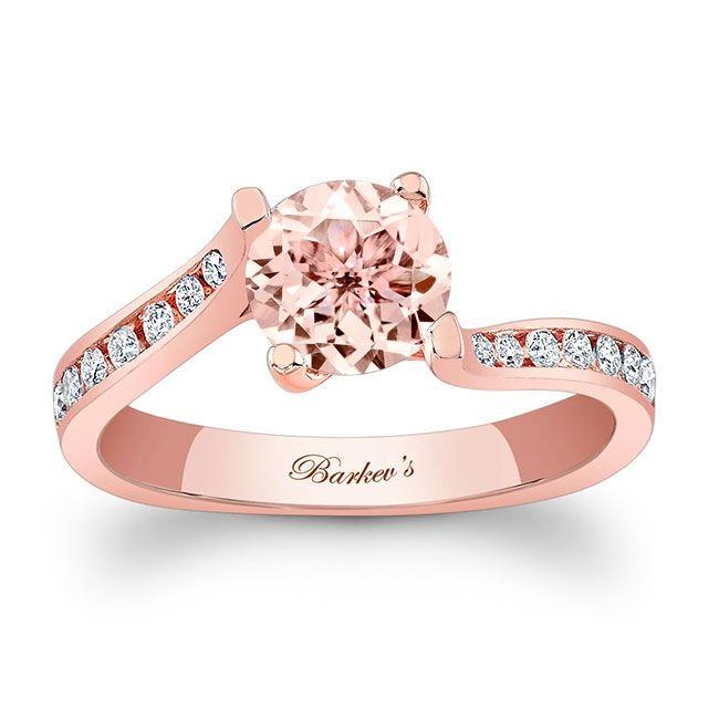 Barkev's Morganite Rose Gold Engagement Ring MOC-7938LP