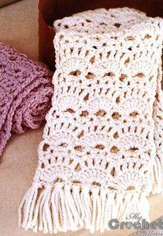 Crochet openwork scarfves for women | Mycrochetpattern #crochetmandalapattern