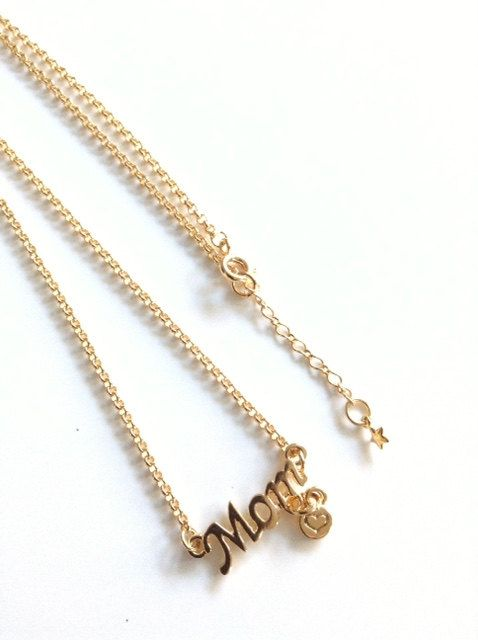 Gifts for mom, mother necklace personalize mom gold pendant, mom necklace gold, new mom necklace, mom gifts name necklace mothers day gift