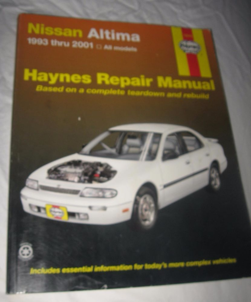 Haynes Repair Manual Nissan Altima 1993 - 2006 all V4 & V6 Models #72015