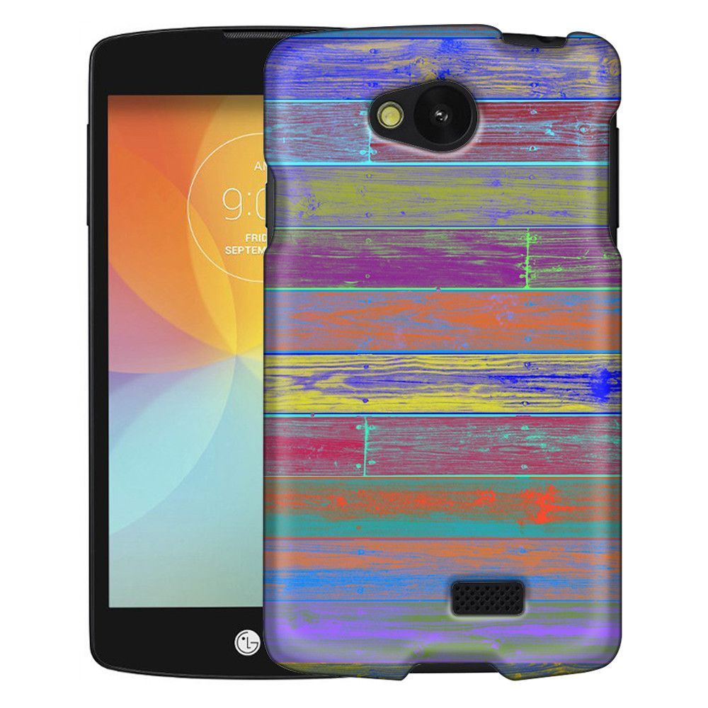 LG Optimus F60 Washed Out Colorful Wood Floors Slim Case