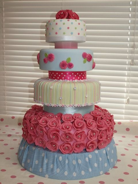 """""""CATHY"""" shabby chic wedding cake  WINNER WOOHOO !        by cakes from the sweetest thing (Susan), via Flickr"""
