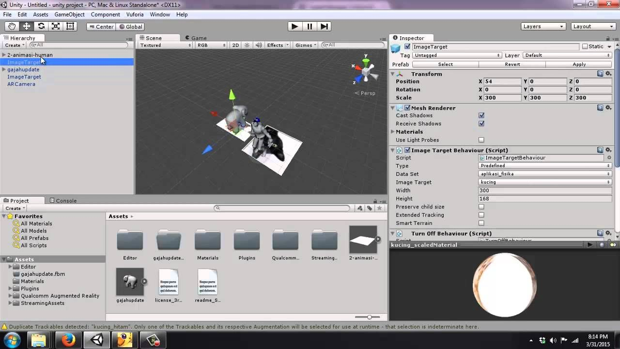 Augmented reality with Vuforia and Unity part 3 - Multiple