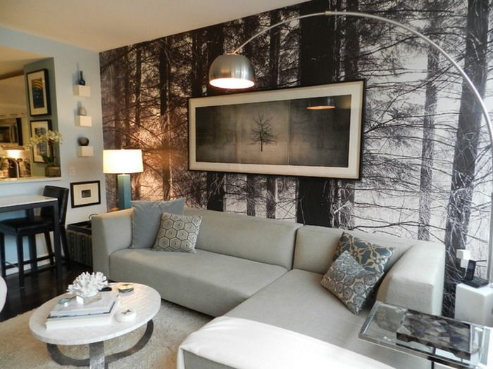 20 Living Rooms With Beautiful Wall Mural Designs | Wall murals ...