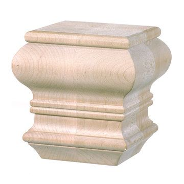 Traditional Square Bun Foot 4 1 2 Inch X 4 1 2 Inch Furniture Feet Furniture Legs Traditional