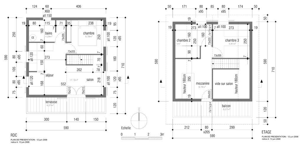 Image issue du site Web    wwwchaletsetmaisonsenbois-pella - plan maison plain pied 80m2