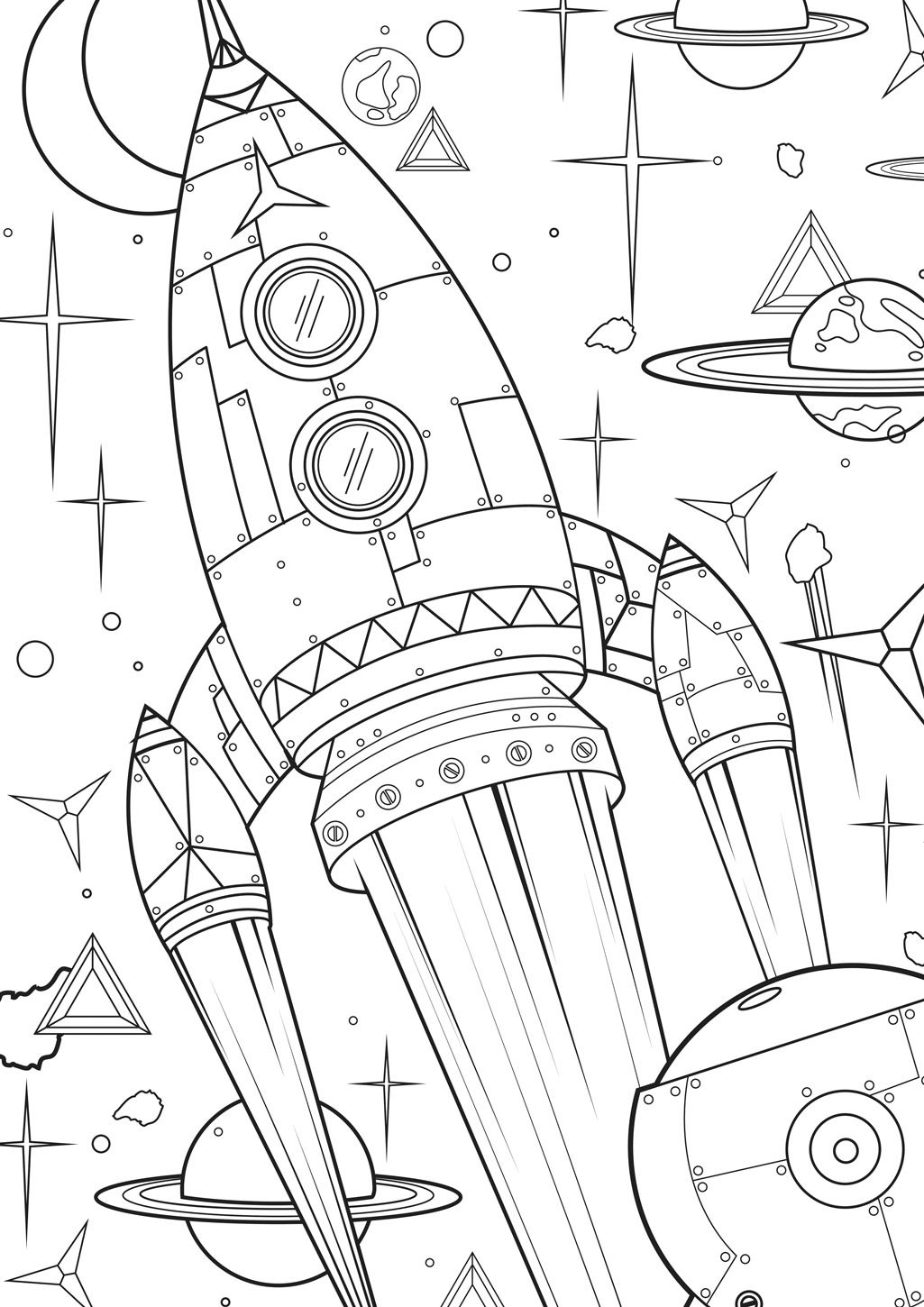 Supersized Colouring Picture: To the Stars   Planeten   Pinterest
