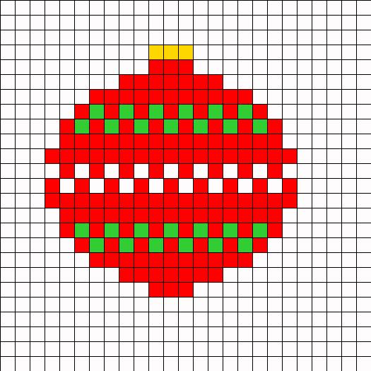 Christmas Ornament Perler Bead Pattern