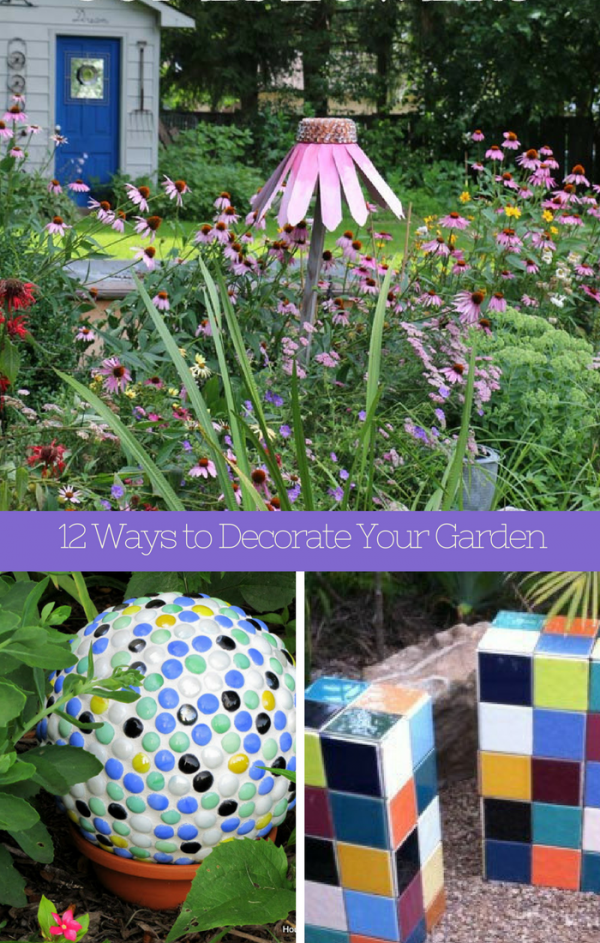 12 DIY Garden Decorations You Can Make is part of garden Decoration Tutorials - These DIY garden decorations are so easy to make  You can follow all the tutorials below to learn how to make your own decorations for the yard  We have picked a whole bunch of different DIY projec…