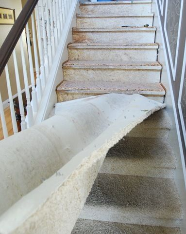 So It Begins Diy Stairs Stair Makeover Home Improvement Projects