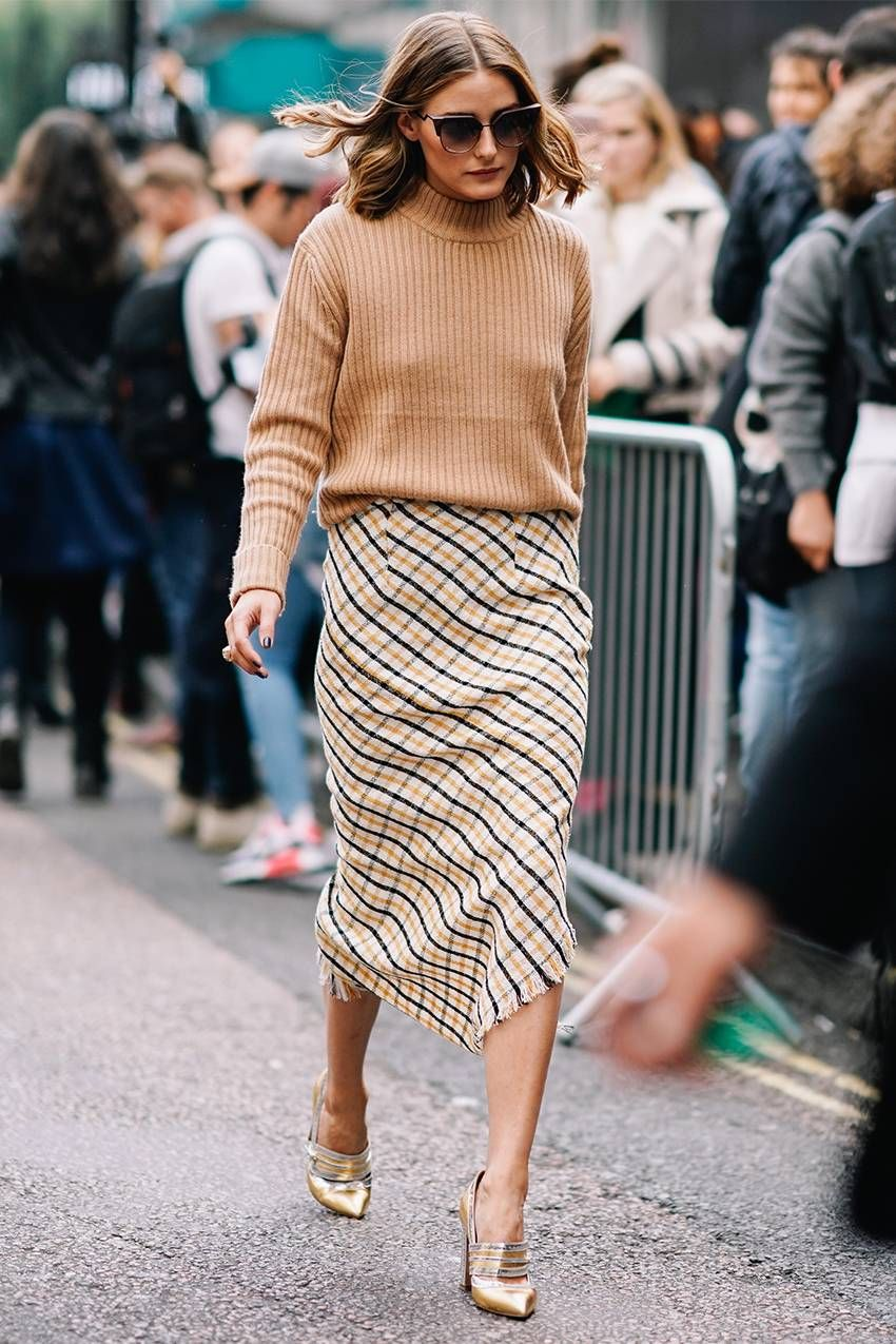 3c19aaf8650 See how Olivia Palermo styles asymmetrical midi skirts  then shop our own  affordable version for Target!
