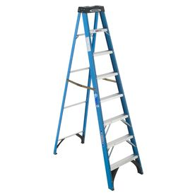 Werner 8 Ft Fiberglass 250 Lb Type I Step Ladder Step Ladders Ladder Fiberglass