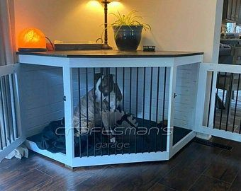 DIY Dog Kennel Plans To Build Your Own Wood Double Dog Crate Furniture Doggie Den Rustic Wood DIY Dog Crate Dog Pen