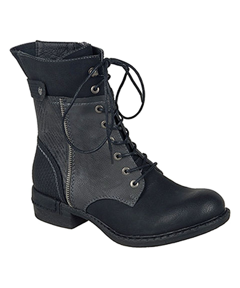 Rieker Black Gray Lace Up Boot Boots Lace Up Boots Leather Boots