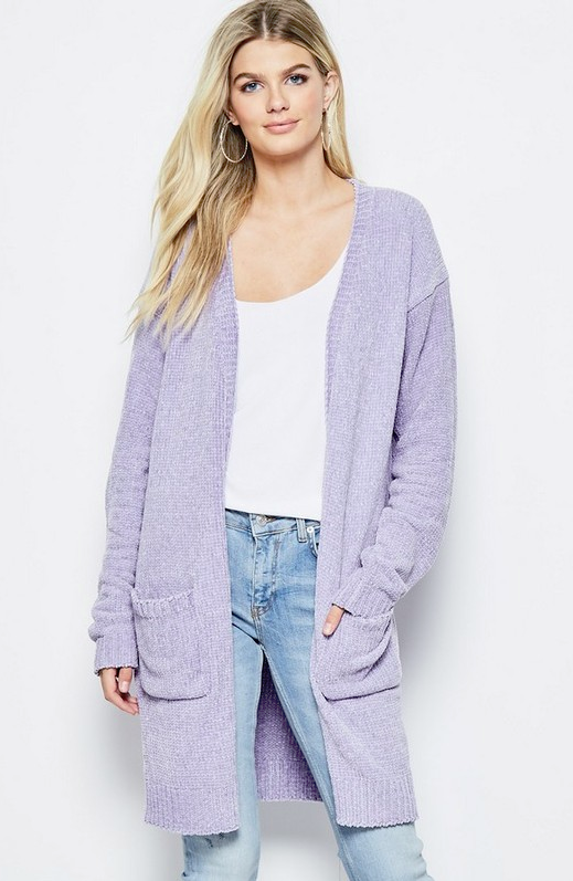 ffc903b6664 On To Something Better Lavender Chenille Cardigan in 2019 | Game Day ...