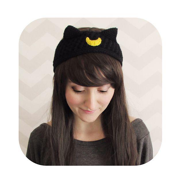 luna artemis sailor moon cat headband pattern by Hello Happy ...