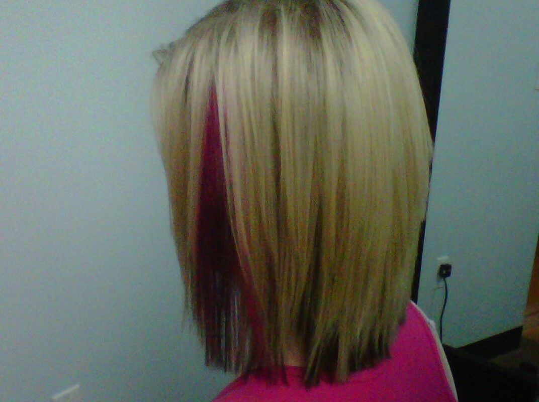 Blonde And Pink Hair Color