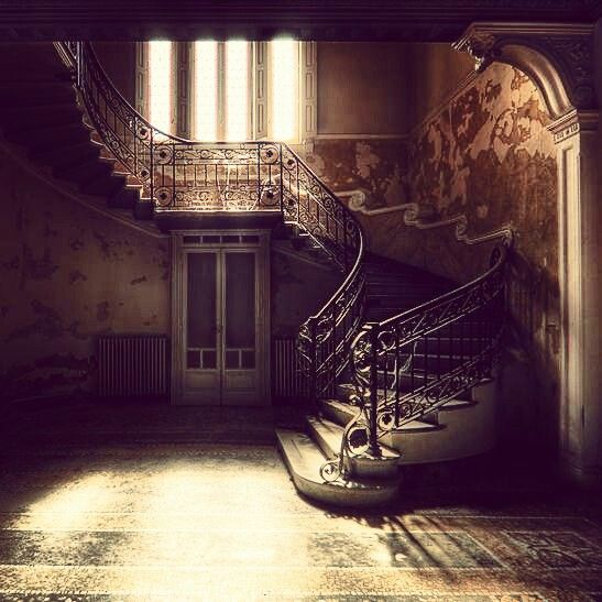 Abandoned Mansion-Who would abandon such a beautiful place and why?