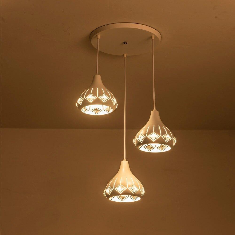 Led Kristall Hangelampe E26 E27 Led Pendelleuchte Kabel Loft Lampen Fur Wohnzimmer Gang Korri En 2020