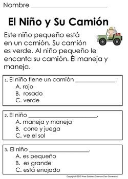 spanish reading comprehension passages and questions the second set sk 1st comprensi n. Black Bedroom Furniture Sets. Home Design Ideas