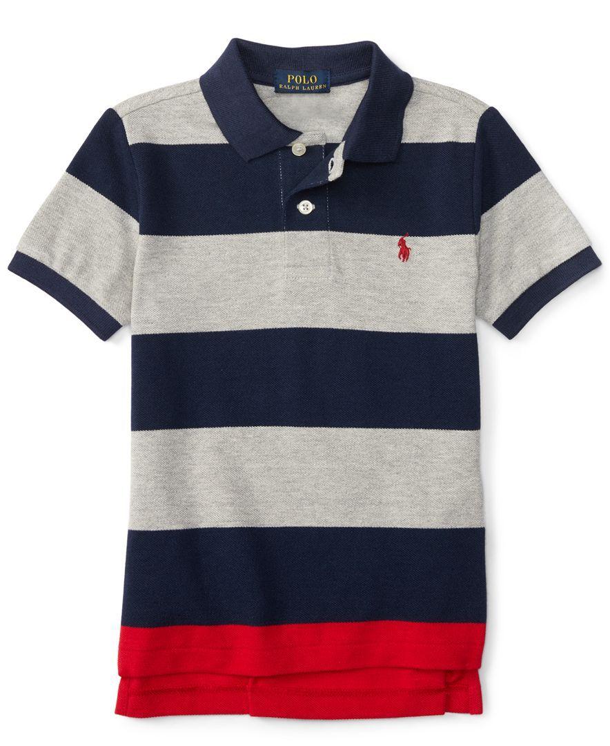 d5737ac38a81 Striped Polo Tee Macys