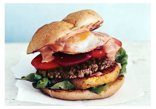 """Aussie burger with """"the lot"""""""