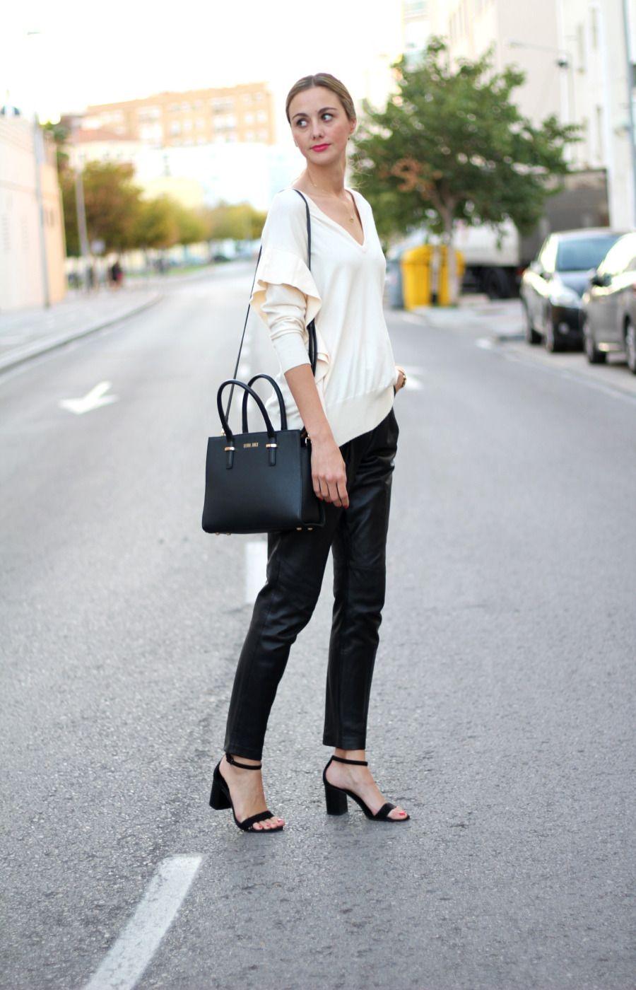Jersey blanco | look formal | Jersey blanco, Pantalones de