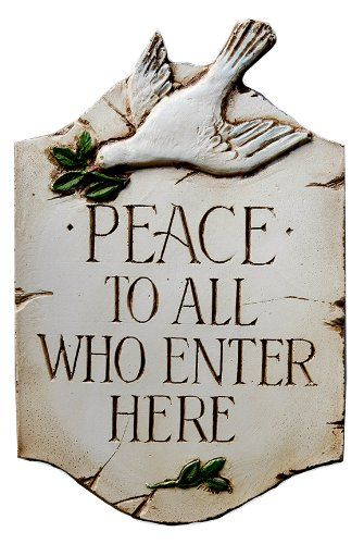 Decorative Signs For The Home Peace To All Who Enter Welcome Home Decor Sign  See This Great
