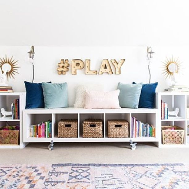 Chic Home Office And Playroom Combination Bsht Style Your Senses Stylish Playroom Kid Room Decor Kids Room Organization #playroom #living #room #combination