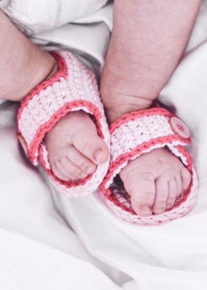 Häkelanleitung Babysandalen