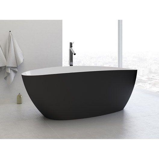 baignoire ilot ovale l 156x l 71 cm