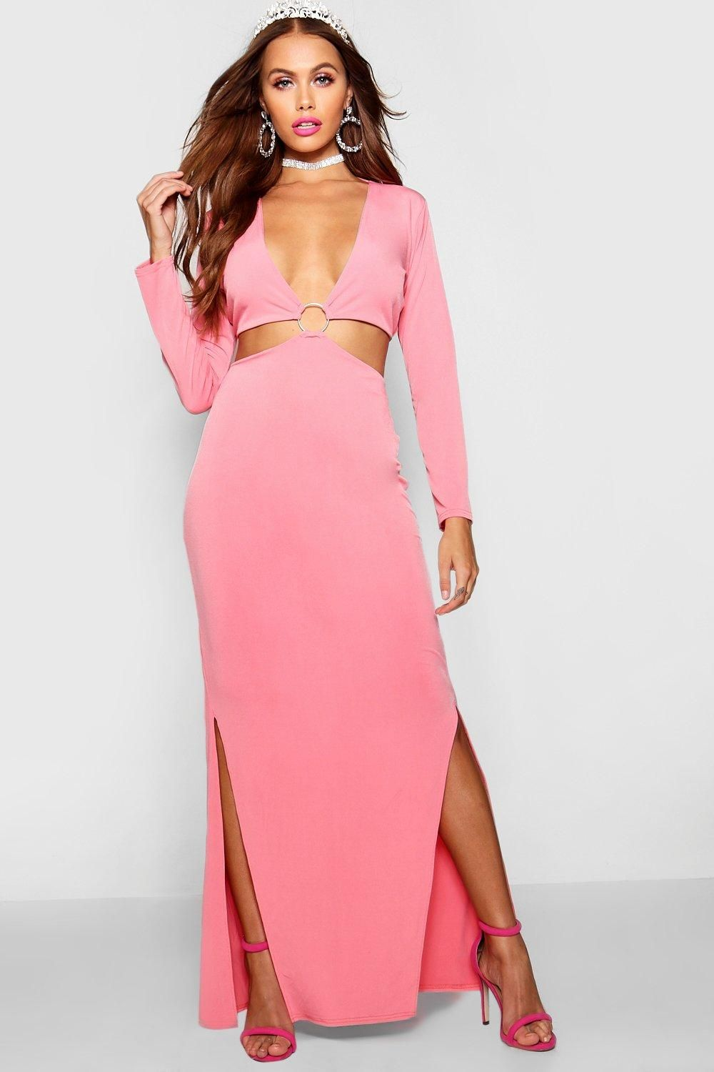 45070045a7 Paris Hilton Ring Detail Maxi Dress from Boohoo, part of our latest Paris  Hilton x boohoo collection