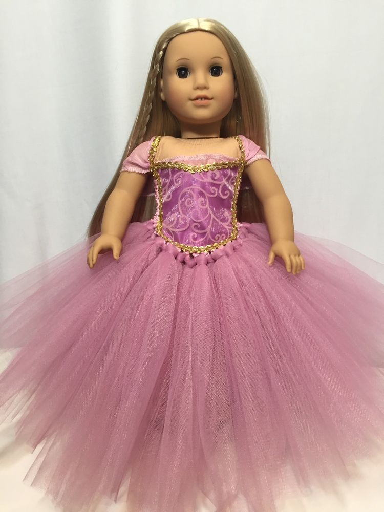 Beautiful Rose Mauve tutu dress American Girl Doll clothes fits all 18 dolls #girldollclothes