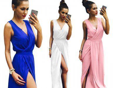 Maxi Sukienka Kopertowa Rozciecie Grecka M296 7476925807 Oficjalne Archiwum Allegro Dresses Fashion Wrap Dress