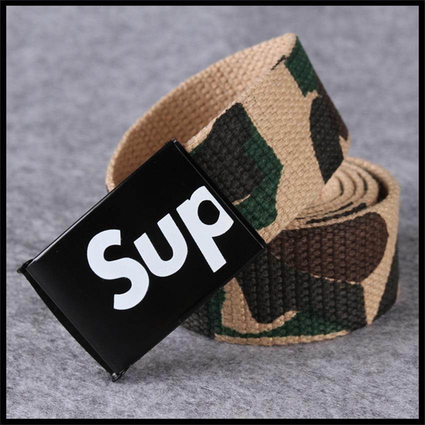 new men and women fashion canvas belt canvas belt belt jeans casual camouflage textile belt
