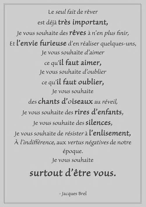 Jacques Brel Citation Texte Mariage Et Reve Citation