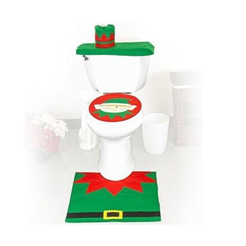 Fantastic 4 49 Fancy Christmas Decoration Happy Santa Elf Toilet Seat Squirreltailoven Fun Painted Chair Ideas Images Squirreltailovenorg