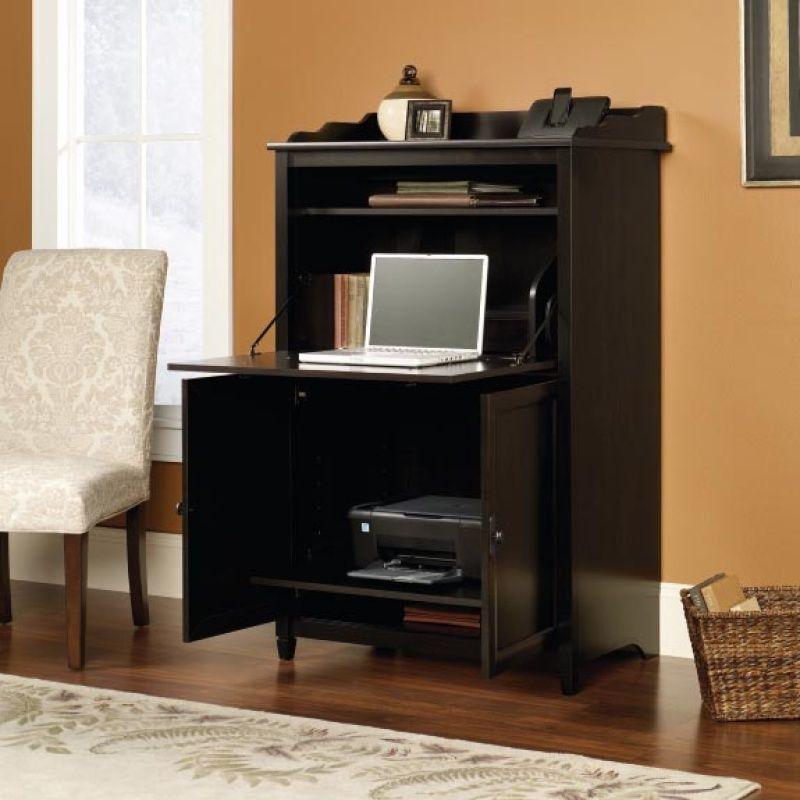 Desks : SAU  413092 SmartCenter Cabinet Furniture Hidden Computer DeskMetal  Frame Computer Desk