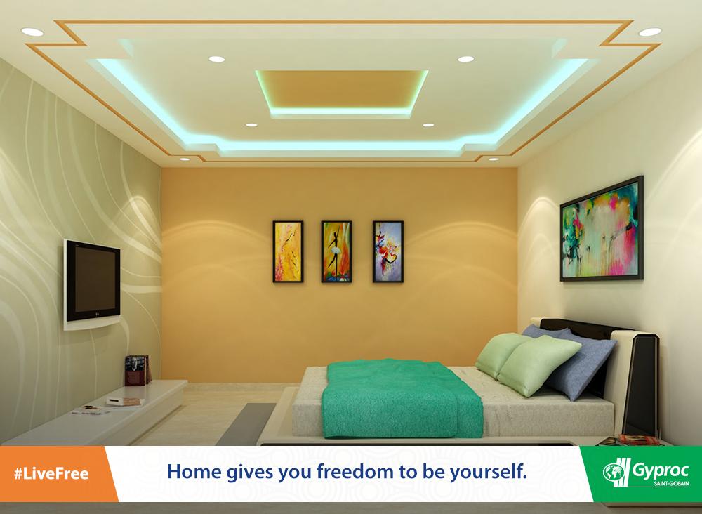 Indian Pop Design For Bedroom | Bedroom false ceiling ...