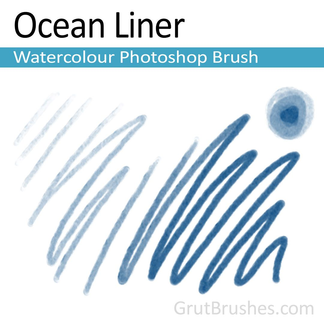 Ocean Liner Photoshop Watercolour Brush Photoshop Brushes