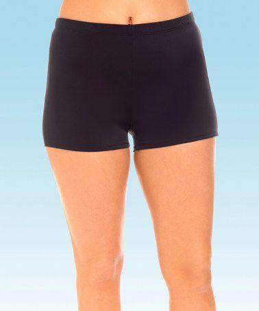 c91a210b705 Look what I found on  zulily! Black Swim Shorts - Plus Too  zulilyfinds