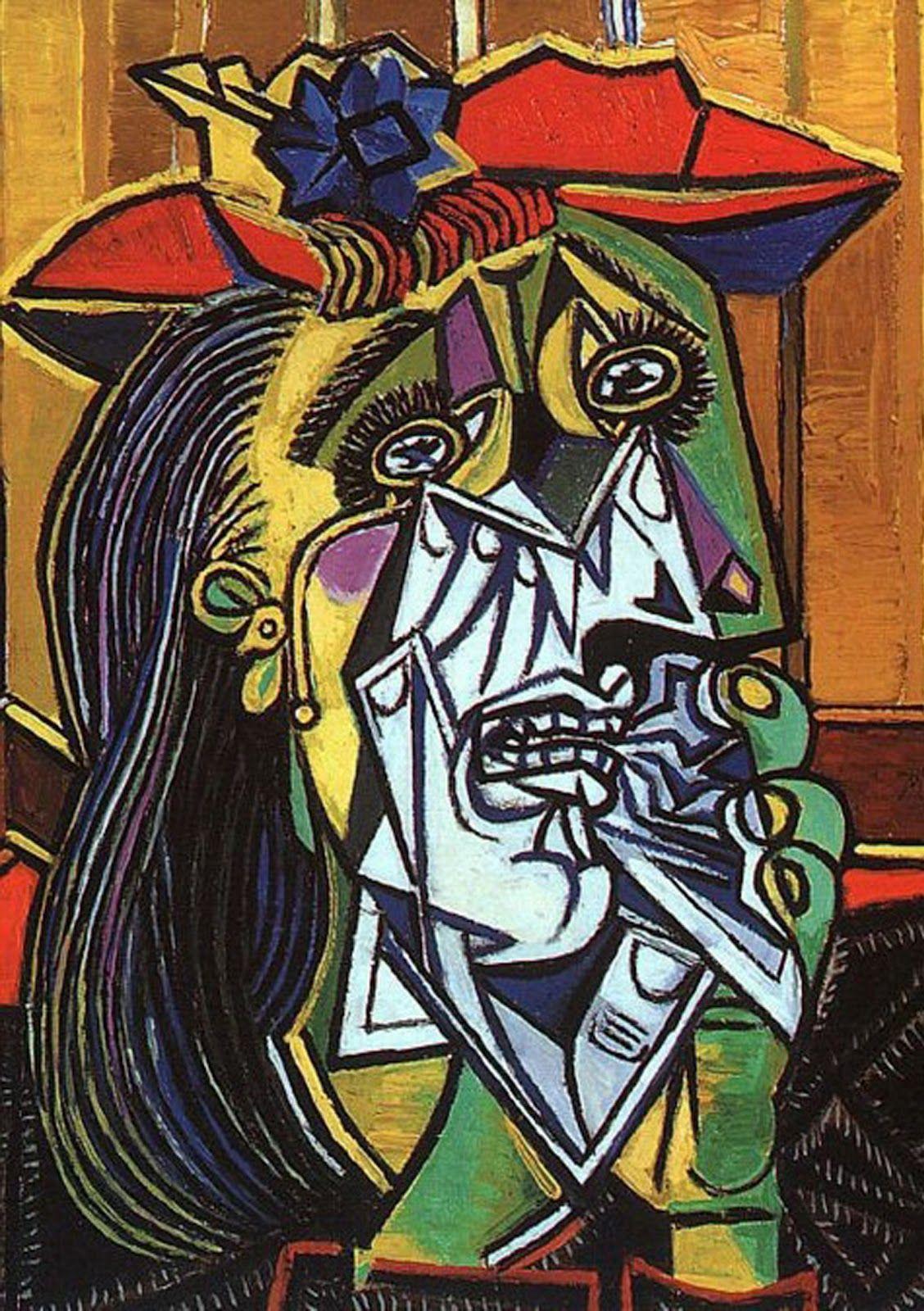 Picasso- Cubismo- La Mujer Llorando | Arte de picasso, Pinturas de picasso, Artistas