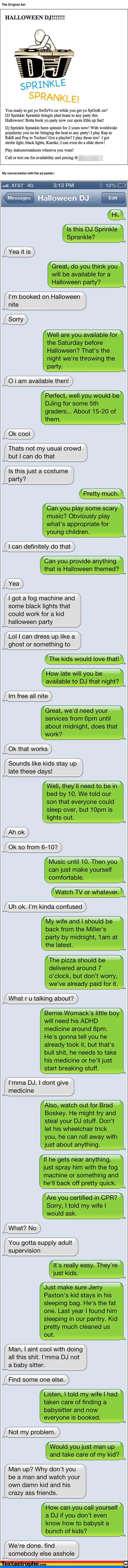 halloween text message meme