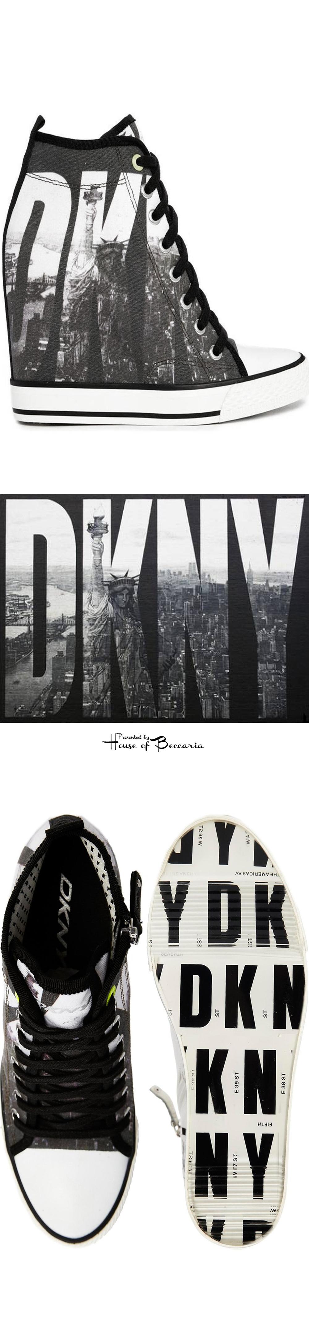 2e716cf34128 ~DKNY ACTIVE Grommet Billboard Wedge Trainers